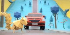 Stop motion and origami used by car producer to publish their services... back to old school of advertising?