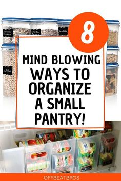 8 Pantry Organization Ideas You'll Wish You Knew Sooner Get an organized pantry with these easy pantry organization ideas. These pantry organization ideas will help not to buy doubles or have food become expired again. Ikea Pantry, Small Pantry Organization, Diy Kitchen Storage, Organized Pantry, Kitchen Hacks, Pantry Ideas, Pantry Storage, Pantry Shelving, Organised Kitchen Diy