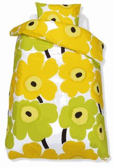 The unikko euro lime from Marimekko Vancouver is a unique fashion item. Marimekko Vancouver carries a variety of duvets and other Bed items. Textiles, Textile Prints, Duvet Bedding, Linen Bedding, Marimekko Wallpaper, Marimekko Bedding, Scandinavian Fabric, Interiors Online, Spring Design