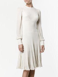 Alexander McQueen A-line knit dress