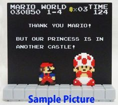 Super Mario Bros. Stage Figure 1-4 Nintendo Dotgraphics JAPAN NES FAMICOM