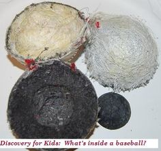 What's Inside a Baseball? - Summer Science Activity for Preschool! Have you ever opened a baseball to find out what it is made of? Come explore this simple science activity for preschool and make discoveries with us! Baseball Activities, School Age Activities, Library Activities, Preschool Themes, Preschool Science, Science Activities, Science Classroom, Science Education, Summer Lesson