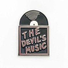 The Devil's Music Vinyl Record - Enamel Pin #pinsandpatches