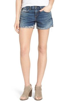 Free shipping and returns on rag & bone 'Boyfriend' Cutoff Denim Shorts (Woodstock) at Nordstrom.com. A relaxed fit and frayed cuffed hems set the easygoing vibe of sunshine-ready denim shorts accented by lived-in whiskering and fading.