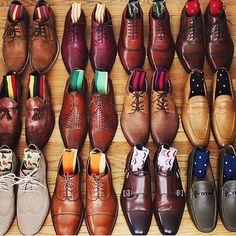 """We're definitely a bit envious of shoe collection. Indian Men Fashion, Mens Boots Fashion, Mens Fashion Blazer, Taft Shoes, Men's Shoes, Formal Men Outfit, Designer Suits For Men, Herren Outfit, Mens Style Guide"