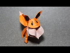 How to make an origami Pokemon - origami Eevee (Henry Phạm) - YouTube