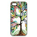 Paradise Life Design Colorful Love Tree Beauty Apple iPhone 5/5s-Best Hard Phone Case Cover