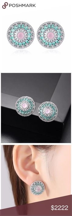 """🆕 Swarovski Crystals The Danica Round Earrings ‼️ PRICE FIRM ‼️ 10% DISCOUNT ON 2 OR MORE ITEMS FROM MY CLOSET ‼️   Made Using Swarovski Crystals Retail $118 NEW WITH TAGS  To say that this is a spectacular pair of earrings would be an understatement. Beautifully & skillfully handcrafted using the finest Swarovski crystals with a 14K white gold overlay. Approximately 3/4"""". These earrings are unbelievably gorgeous! Comes in a gift box. Please check my closet for many more items"""