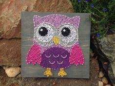 MADE TO ORDER Owl String Art by MadeByTheNeedle on Etsy