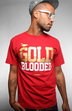Adapt Advancers — GOLD BLOODED Men's Cardinal/Gold Tee