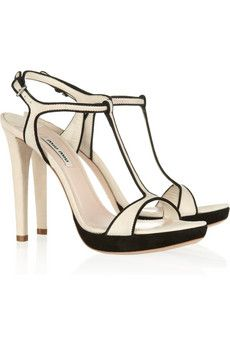 Miu Miu  Two-tone suede sandals