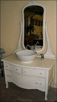 Photo Of Front View Antique Bathroom Vanity Shabby Chic White