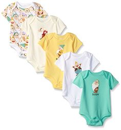 a6f2ea205 Disney Baby Boys' Snow White's 5-Pack Dwarfs Bodysuit Collection Snow White  Dwarfs,