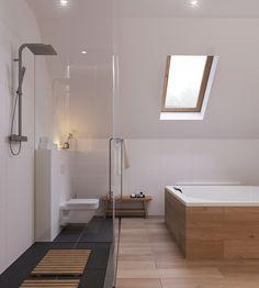 bodengleiche dusche skandinavisch-stil-offen-design-schwarz-bodenfliesen-laminat