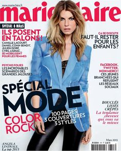 Angela Lindvall - Marie Claire Magazine Cover [France] (March 2013)