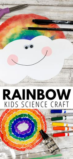 Coffee Filter Rainbow Craft – Bring on the rainbows! Combine rainbow theme art … Coffee Filter Rainbow Craft – Bring on the rainbows! Combine rainbow theme art and science for the perfect STEAM activity this se – Rainbow Crafts Preschool, Rainbow Activities, Science Crafts, Spring Activities, Science For Kids, Preschool Activities, Crafts For Kindergarten, Spring Craft Preschool, Coffee Filter Crafts