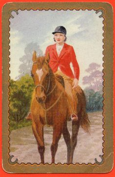 Horse Rider Exclusive Coles Production Swap Playing Card Un-named Series # 1635