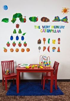 Oopsy daisy Eric Carle, 's The Very Hungry Caterpillar TM Peel and Place Childrens Wall Decals by Eric Carle, 54 by *** You can find more details by visiting the image link. Hungry Caterpillar Nursery, Very Hungry Caterpillar, Eric Carle, Art For Kids, Crafts For Kids, Childrens Wall Decals, Daisy, Board Decoration, Chenille