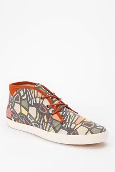Vibrant. Geometric. #urbanoutfitters #pointerfootwear #hightop