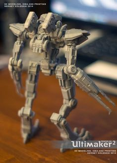 3ders.org - Russian toy designer creates complex and awesome robot toys on his Ultimaker 2 3D printer   3D Printer News & 3D Printing News
