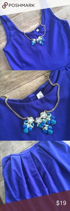 AEROPOSTALE PLAIDED BLUE DRESS AEROPOSTALE PLAIDED BLUE DRESS. Very sturdy and heavy fabric. Worn in a wedding. Pair it with a statement necklace. Aeropostale Dresses Mini