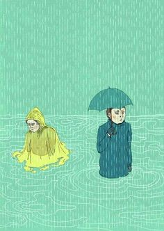 Art, artprint, illustration, rain. Introversie · Illustratie · poster by Irene Linders