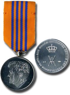Inauguration Medal 2013  On 30th of April 2013 Queen Beatrix abdicated the throne after 33 years of serving the Netherlands. On this date Willem Alexander became the first King since 123 years (his great-great-grandfather Willem III died in 1890). All who took part in or had some role during the inauguration were eligible for this medal. More than 19000 medals were issued.