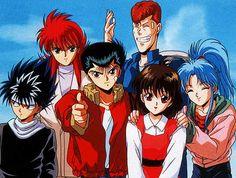 YuYu Hakusho - [Hiei, Kurama, Yusuke, Kuwabara, Keiko e Botan] Cartoon Network, Anime News Network, Manga Anime, Anime Art, Anime Yu Yu Hakusho, Live Action, Yoshihiro Togashi, Anime Watch, Yuyu Hakusho