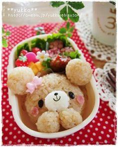 rice ball bear bento