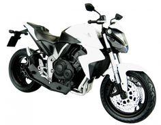 Skynet Aoshima HONDA CB1000R White 1/12 Scale Motorcycle Diecast from Japan #Skynet #HONDA