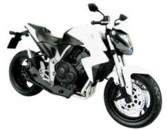 Skynet Aoshima HONDA CB1000R White 1/12 Scale Motorcycle Diecast from Japan #Skynet #HONDA