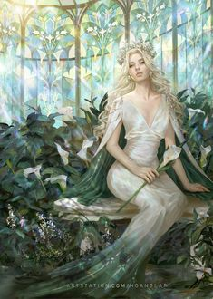 Image Painting, Painting & Drawing, Character Inspiration, Character Art, White Lilly, Beautiful Fantasy Art, Fantasy Girl, Fantasy Artwork, Beauty Art