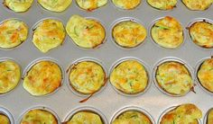 Mini zucchini and carrot egg muffins. These mini snacks are great for on-the-go or for a quick meal for babies. They also freeze very well.   3 Fast and Healthy Finger Food Recipes for Your Baby   YummyMummyClub.ca   #MommyKnowHow