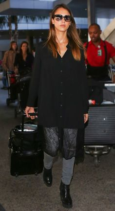 From Alba to Olsens, Style Tricks We've Learned from Stars at Airports via @WhoWhatWear