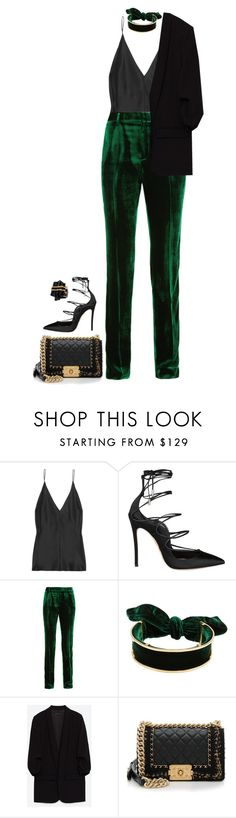 """""""The Green Light"""" by hernamewaslily ❤ liked on Polyvore featuring Juan Carlos Obando, Dsquared2, Haider Ackermann, Chanel and Liz Larios"""