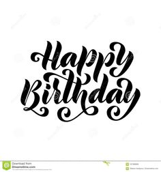 Happy Birthday Black And White Happy Birthday Greetings