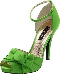 green high heel sandals