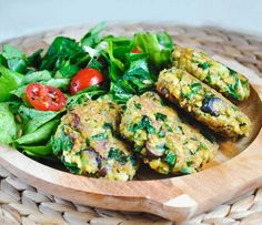 Green Chickpea Patties Tahini recipe