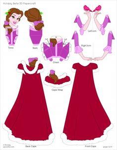 Disney's Beauty and the Beast Printables, Coloring Pages and Activities Beauty And The Beast Party, Belle Beauty And The Beast, Disney Diy, Disney Crafts, Fun Crafts, Diy And Crafts, Paper Crafts, Unicorn Diy, Disney Paper Dolls