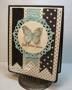 Stampin' Up! Backyard Basics Feel Better Soon Love the color combo!