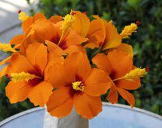 Hibiscus Flower Paper Flower Crepe paper Flower от FlowerBazaar