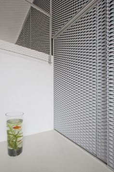 by Pasel Künzel Architects - Design Milk Wooden Facade, Metal Facade, Architecture Details, Interior Architecture, Expanded Metal Mesh, Interior Design Colleges, Metal Cladding, Showroom, Interior Design Magazine