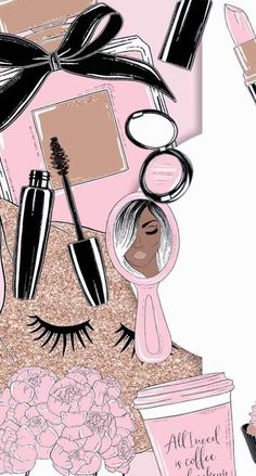 Make Up Make Up Cute Wallpapers Makeup Wallpapers Makeup Backgrounds, Makeup Wallpapers, Cute Backgrounds, Cute Wallpapers, Wallpaper Backgrounds, Fashion Wallpaper, New Wallpaper, Screen Wallpaper, Make Up Gold