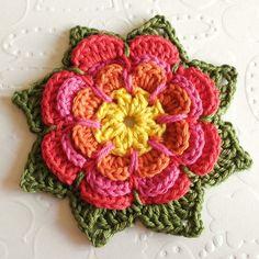 Crochet For Children: Crochet Pointy Flower - Free Pattern