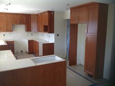 Cabinets are in