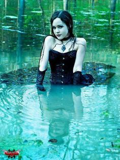 #Goth girl in a pool? This one loses me...