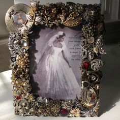 Vintage Jewelry Frame in Antique Gold  Silver by vintagedesign39, $250.00