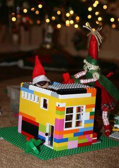 Elf on the Shelf idea - build a LEGO house for Elf
