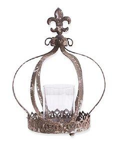 Look at this #zulilyfind! 12'' Metal Crown Candle Holder #zulilyfinds