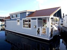 houseboat | Houseboat models | Houseboat design | Floating Home designs -  To connect with us, and our community of people from Australia and around the world, learning how to live large in small places, visit us at www.Facebook.com/TinyHousesAustralia or at www.tumblr.com/blog/tinyhousesaustralia